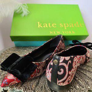 Kate Spade Keana Flat - Russet Multi-Brocade